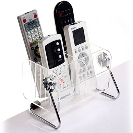 Acrylic Remote Control Holder With 6 Removable Grids