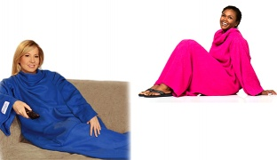 Snuggie Soft Fleece Blanket With Sleeves For Adults - Blue