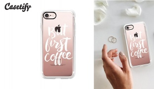 Casetify But First Coffee Brush Phone Case - For iPhone 7 & 8