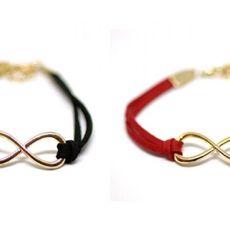 infinity bracelet gold crystal s claire us symbol