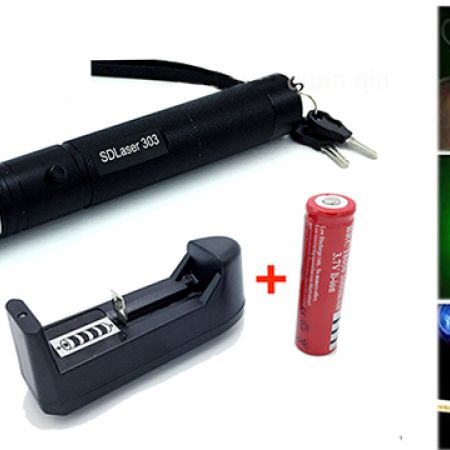 High Power Green 303 Laser Pointer Presenter 10000mw With Safe Key Battery and Charger
