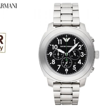 purchase cheap c8ce8 96765 Emporio Armani Sportivo Stainless Steel Round Watch For Men