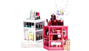 Cosmake 360 Degree Rotating Makeup Organizer - Pink