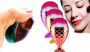 Mermaid Mermaidsalon Oval Blush Foundation Brush - Purple
