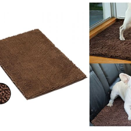 """Clean Pooch Super Absorbent Brown Mat Perfect For Pets 18"""" x 28"""""""