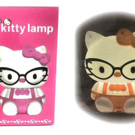 Hello Kitty Pink With Black Glasses Led Lamp