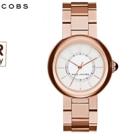 Marc Jacobs Courtney Rose Gold Stainless Steel Round Watch For Women