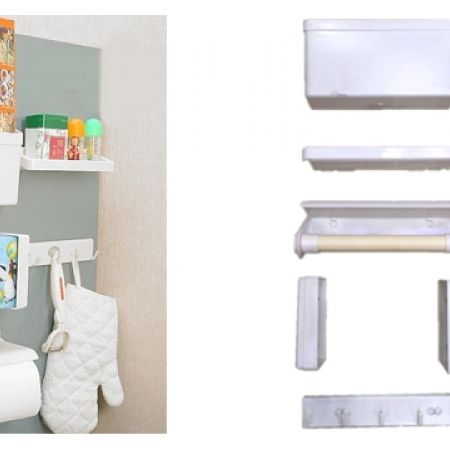 5 In 1 Multifunction Magnetic Magpie Combination Storage Rack Set