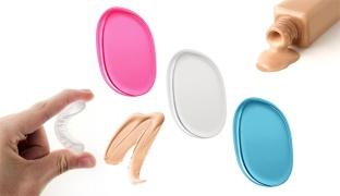 Oval Silicone Blender For Makeup - Transparent