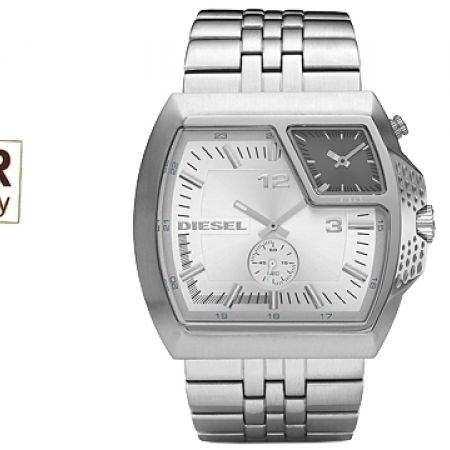 Diesel Advanced Stainless Steel Silver & Gunmetal Dial Watch For Men