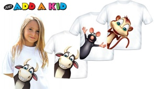 Just Add A Kid Cotton Sidekick T-Shirt - For 2 Years - Bull
