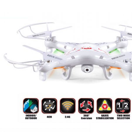 Quadcopter X5C 2.4G 4CH 6 Axis Gyro RC Quadcopter With HD Camera