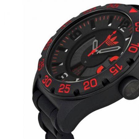 Adidas Newburgh esfera negra esfera 11278 correa de silicona negra negra reloj redondo para hombres 89ffac3 - allergistofbrug.website