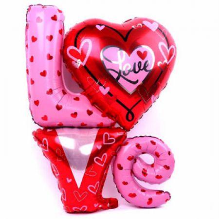 Valentine Giant Helium Love Shaped Balloon 81 x 91.4 cm