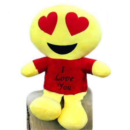Valentine Emoiji lovely Peluche 36 x 24 cm