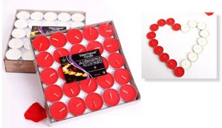 Talent Fareast Set Of Unscented Tealight Candles 50 Pcs - Red