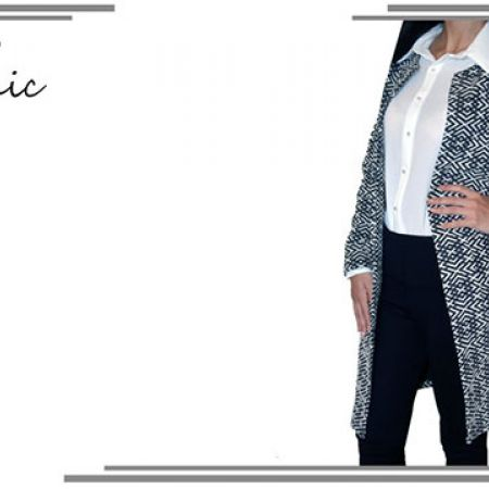 Sport Chic Classy Open Front Long Blazer For Women Size: 38