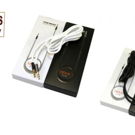 Vidvie AL1105 AUX Stereo Audio Cable - Black