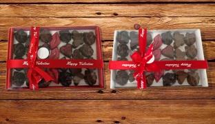 White Valentine Chocolate Box