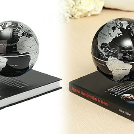 Creative World Map Magnetic Maglev Levitation Floating Globe Book Base