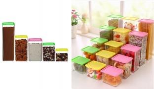 Plastic Sorting Food Storage Sealed Box - 370 ml - Yellow