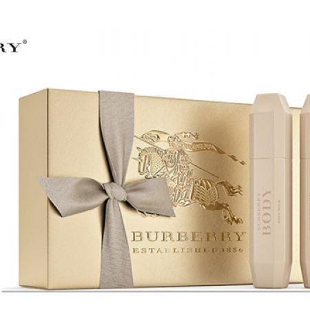 Burberry Body 3 Pcs Gift Set EDP 85 ml Shower Gel 100 ml & Body Lotion 100 ml For Women