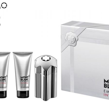 Mont Blanc Emblem Intense 3 Pcs Gift Set EDT 100 ml After Shave 100 ml & Shower Gel 100 ml For Men