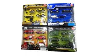 Set Of Powerful Metal Die Cast Car 6 Pcs - Firefighter