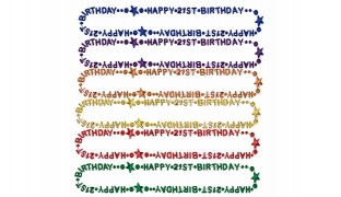 Happy Birthday Party Bead Necklace - Red