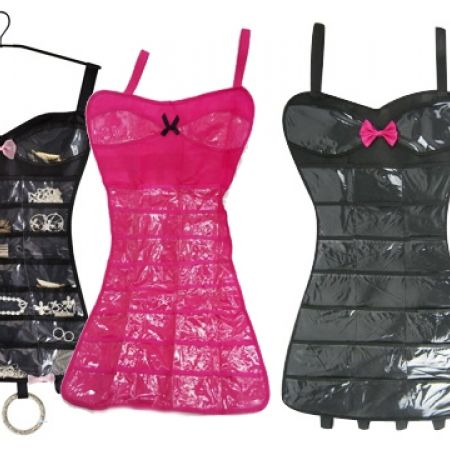 Jewelry Organizer Lady Dress - Black