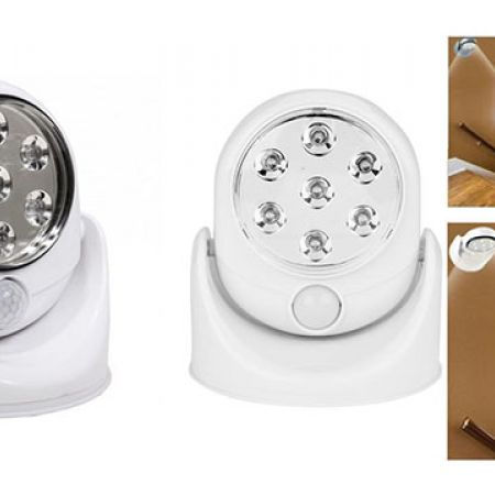 Glow Bright 7 LED Wireless Motion Sensor Activated Bright White Light