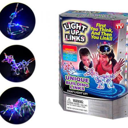 Light Up Links Building Link Flash Glow Set 158 Pcs