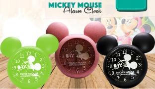 Mickey Mouse Alarm Clock - Black