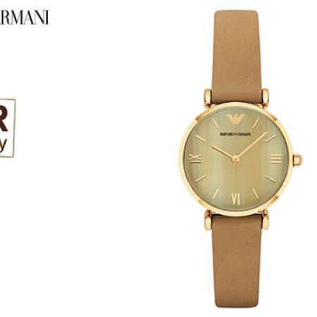 Emporio Armani Retro Round Watch For Women