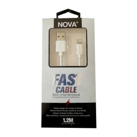 Nova Plus Fast Charging Lightning Cable Anti-Interference For iPhone