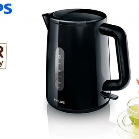Philips Daily Collection Black Electric Kettle 1.6 L 2400 W HD9300