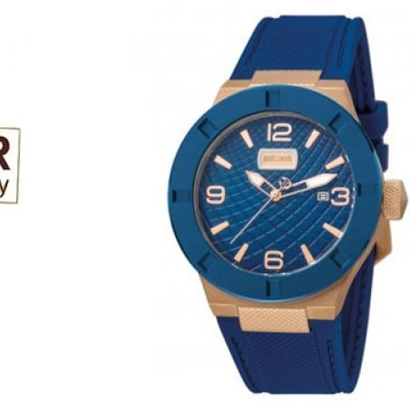 Just Cavalli Blue Dial Sports Round Watch For Men