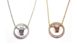 Zinc Alloy Cubic Zircona Heart Necklace For Women - Gold