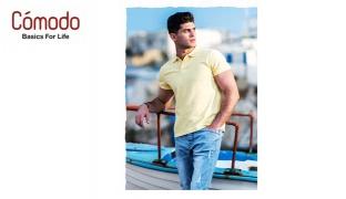 Comodo Pique Plain Basic Polo T-Shirt For Men - Red - Size: Medium