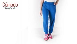 Comodo Premium Valuweight Jogging Wear Pants For Women - Black - Small