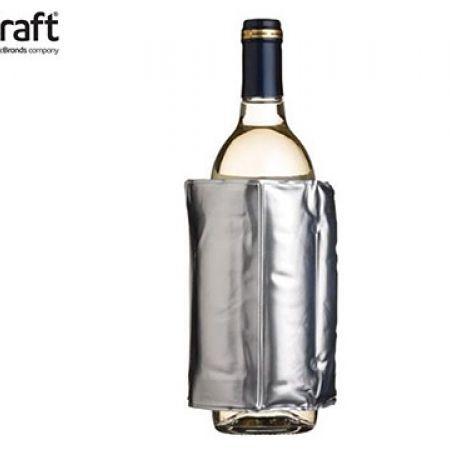 KitchenCraft BarCraft Adjustable Wrap Around Silver Wine Cooler