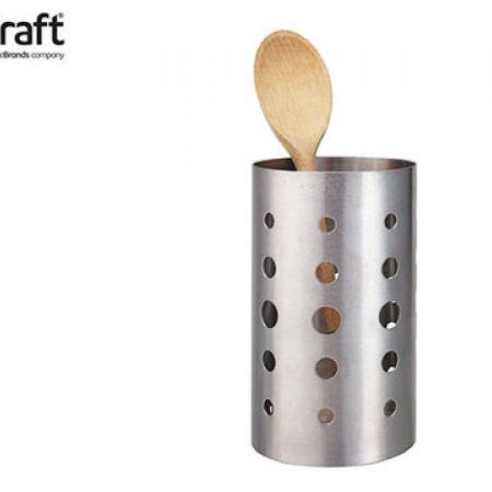 KitchenCraft Stainless Steel Utensil Holder 17 x 10 cm