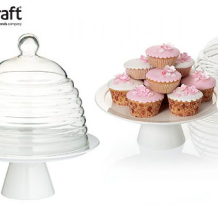 KitchenCraft Sweetly Does It Glass Dome Cake Stand 29 x 25 cm