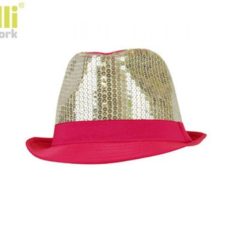 d722ee71773 Capelli New York Straw Fedora Stylish Gold   Pink Sequins Summer Hat For  Girls