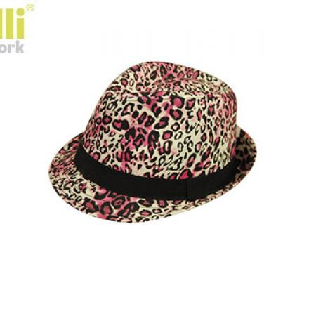 3ad5ff9577a Capelli New York Fedora Stylish Pink   Black Leopard Patterns Summer Hat  For Kids