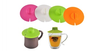 Silicone Tea Bag Buddy Cup Lid - Blue