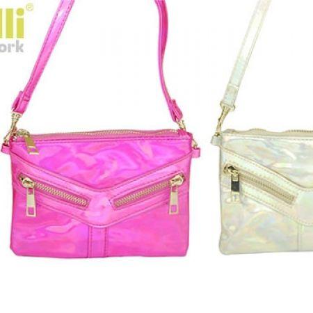 c87605a92b Capelli New York PU Faux Leather Crossbody Zipper Design Bag For Girls -  Silver - Makhsoom