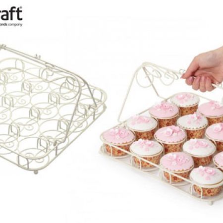 KitchenCraft Sweetly Does It Decorative Wire Cupcake Carrier 35 x 32 cm