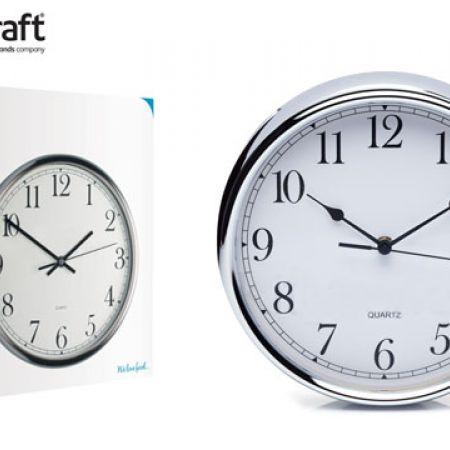 Kitchencraft Stainless Steel Kitchen Clock 25 Cm