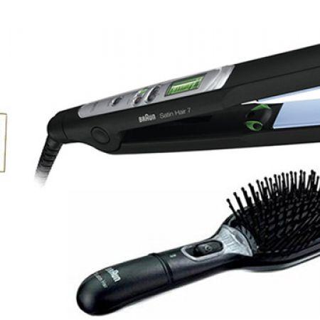 58b2519618fe2 Braun Satin Hair 7 Straightener + Satin Hair 7 Anti Static Fizz Brush 1 left